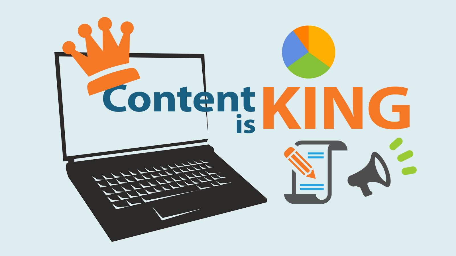 Картинка с надписью Content is king