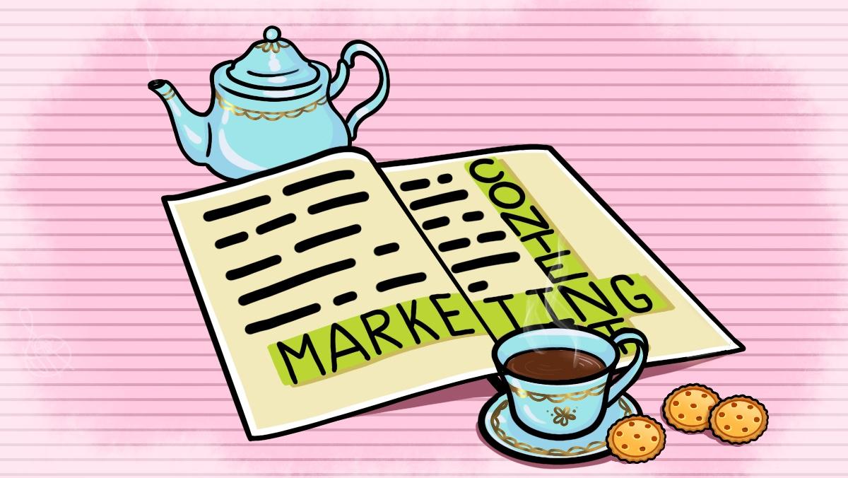 Журнал со статьёй о контент-маркетинг