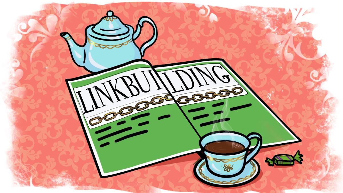 Журнал на столе со статьёй о линкбилдинге