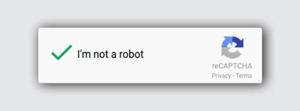 Внешний вид reCAPTCHA