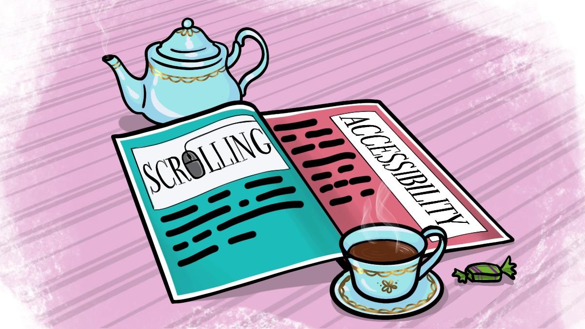 Журнал со статьями о скроллинге и доступности сайта