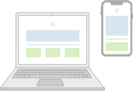 Две версии одностраничного сайта