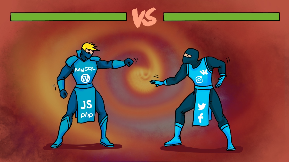 Борьба сайтов и соцсетей