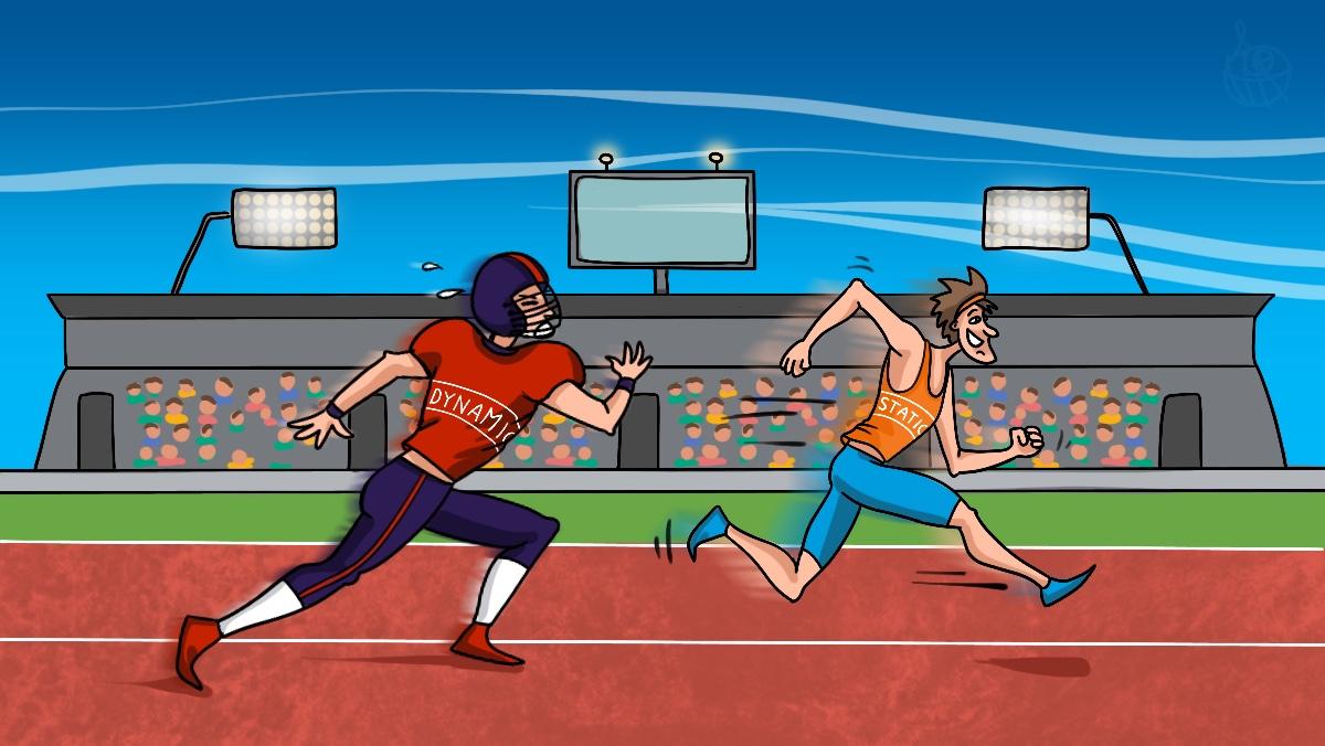 Динамический и статический сайт как медленный и быстрый бегун